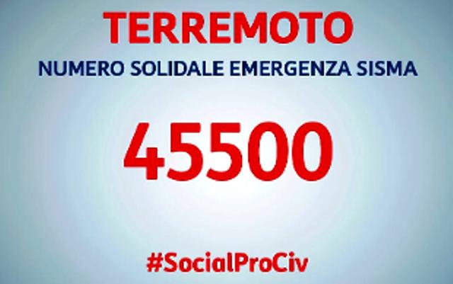 Protezione Civile - Terremoto: Sms al 45500 per donare 2 euro