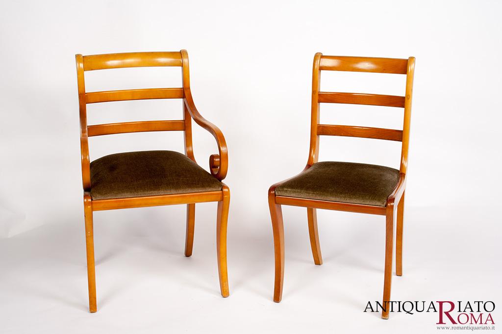 Mobili antiquariato set di sedie e poltroncine - Mobili di antiquariato ...