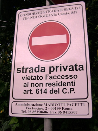 cartello via gradoli