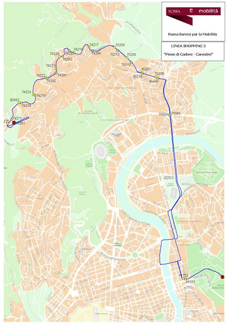 Linea  Shopping 3 -  Scarica Mappa in Formato PDF