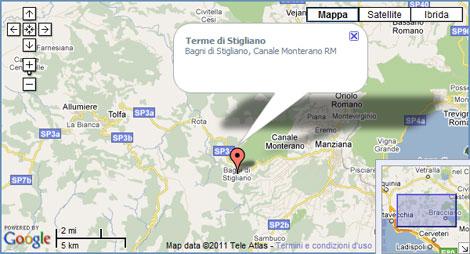 Mappa terme di Stigliano