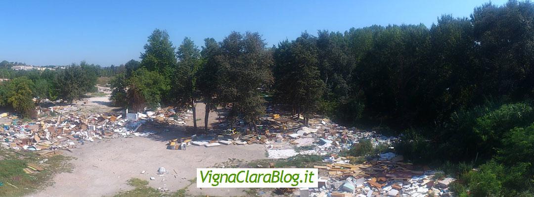 Panoramica Campo Nomadi Via del Baiardo da Viadotto Via Olimpica