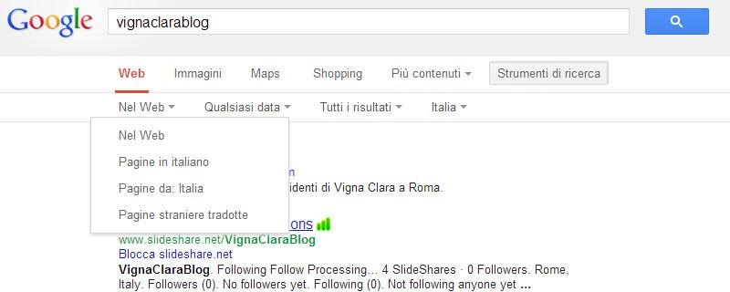 Google ricerca per Nazione