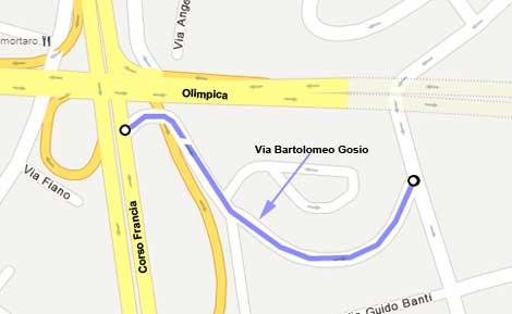 Mappa Via Bartolmeo Gosio