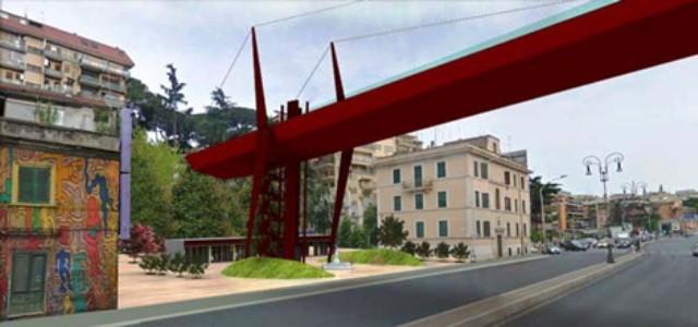 ponte pedonale corso francia