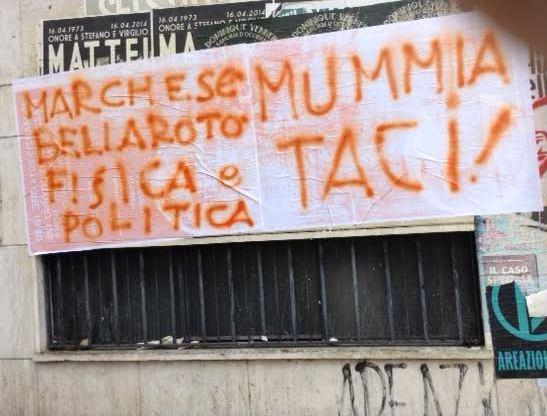 Giovanna marchese striscione