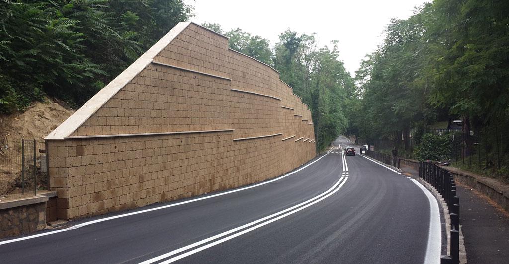 Muro contenimento Cassia Antica