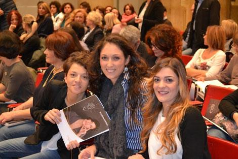 Da sinistra Eleonora Ferrari, Flavia Antonino e Francesca Sforza