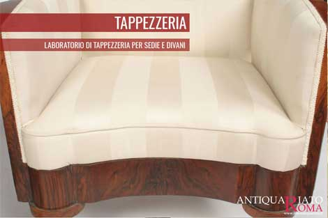 Laboratorio Tappezzeria antiquariato Roma