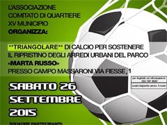 Triangolare di calcio per il Parco Marta Russo a Labaro