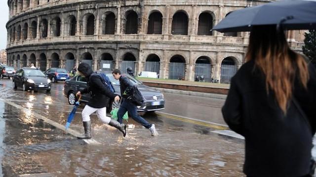 pioggia su Roma