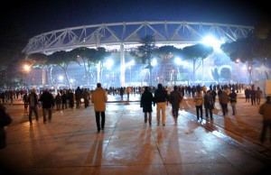 stadio olimpico notte