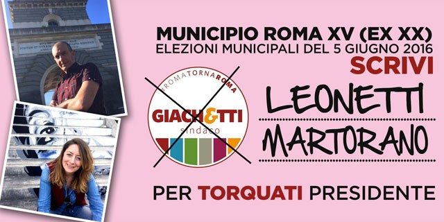 Leonetti Martorano al XV Municipio
