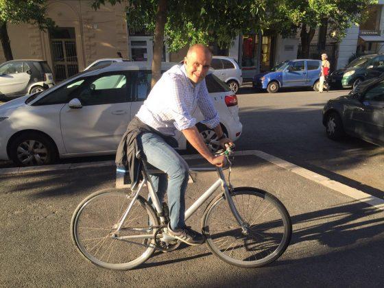 Carlo Leonetti in Bicicletta