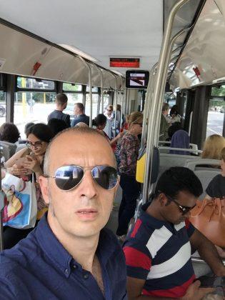 Carlo Leonetti in autobus