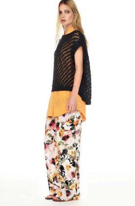 Rossopuro pantalone floreale da 100a+ a Vigna Clara
