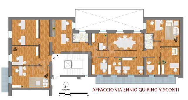 Affitto ufficio prestigioso in zona prati a roma for Affitto ufficio giornaliero roma