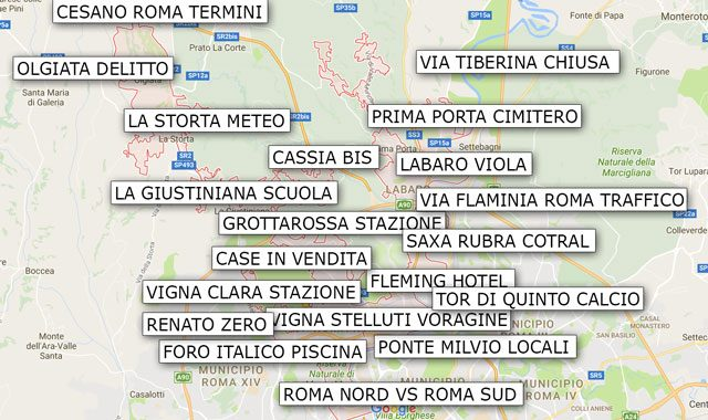 Cartina Roma Nord.Cosa Cercano I Romani Secondo Google A Roma Nord Vignaclarablog It