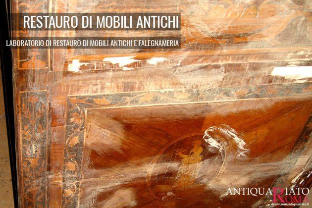 Fasi del restauro di Mobili antichi