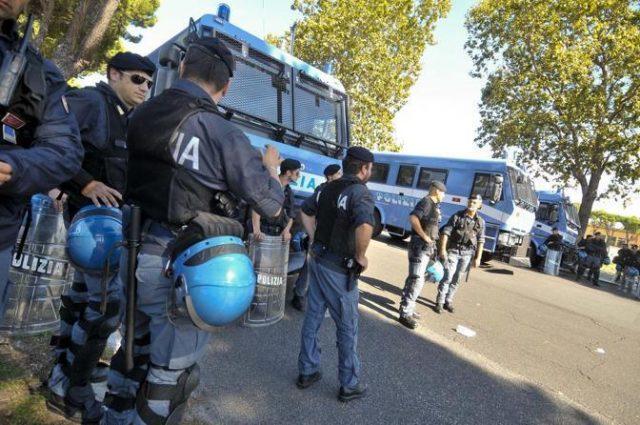 stadio olimpico polizia per derby