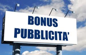 Il 31 dicembre scade il bonus pubblicità.