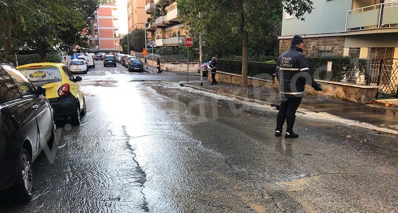 Allagamento Vigna Clara Roma a Via Belloni