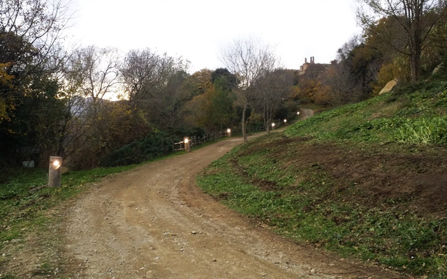 Monterano sentiero-led