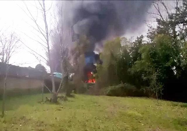 incendio via tenuta piccirilli