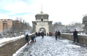 neve a ponte milvio