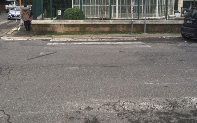 via Orti Farnesina angolo via Nemea