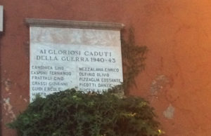 targa caduti Isola Farnese Veio