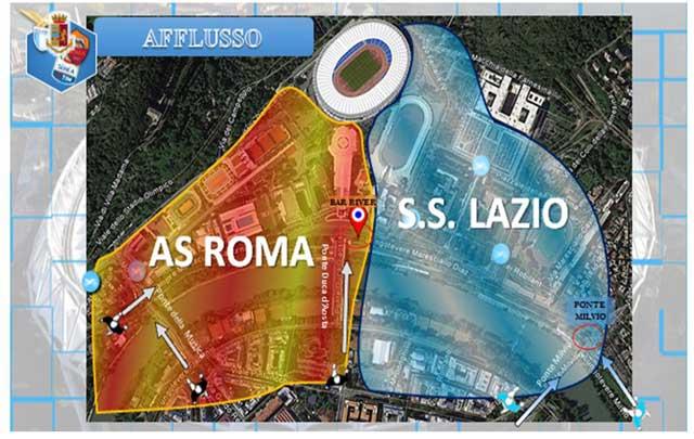 afflusso lazio-roma