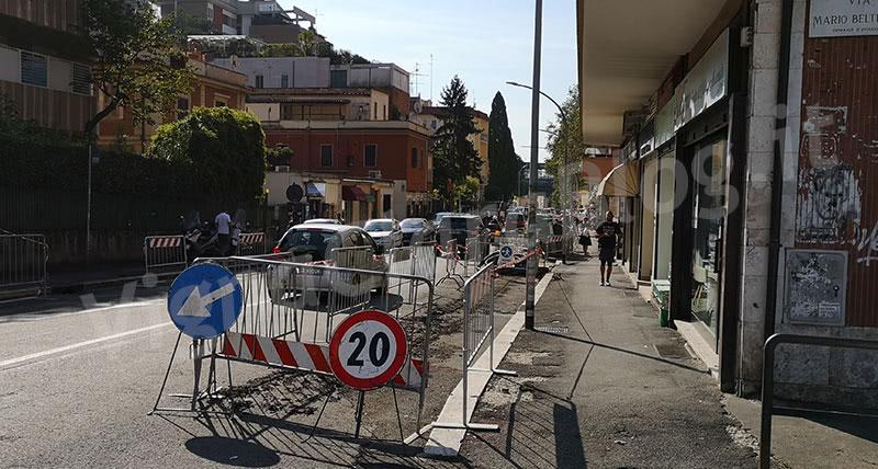 Lavori Areti Via Orti della-Farnesina