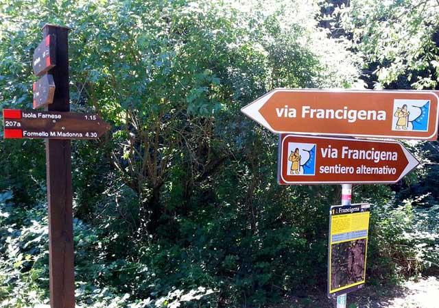isola farnese francigena