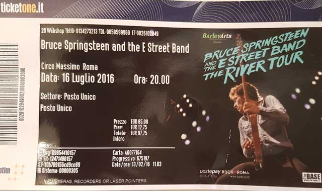 bruce Springsteen roma 2016