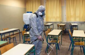 coronavirus sanificazione aula